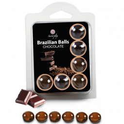 SECRETPLAY SET 6 BRAZILIANS BALLS CHOCOLATE