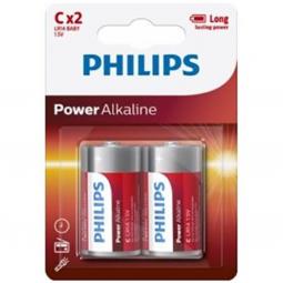 PHILIPS POWER ALKALINE PILA C LR14 BLISTER2