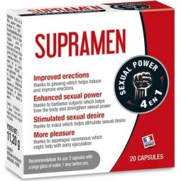 SUPRAMEN 20 CAPSULAS 4 EN 1 POTENCIA SEXUAL