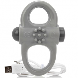 SCREAMING O ANILLO VIBRADOR RECARGABLE YOGA GRIS