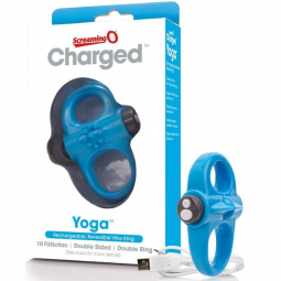 SCREAMING O ANILLO VIBRADOR RECARGABLE YOGA AZUL