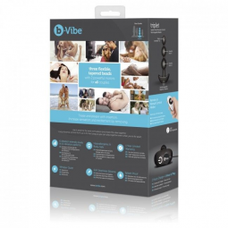 B VIBE TRIPLET ANAL CONTROL REMOTO BEADS NEGRO