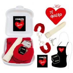 KIT ERoTICO ROJO TE QUIERO I LOVE YOU