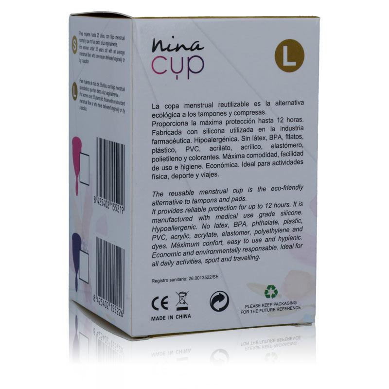 NINA CUP COPA MENSTRUAL TALLA L ROSA