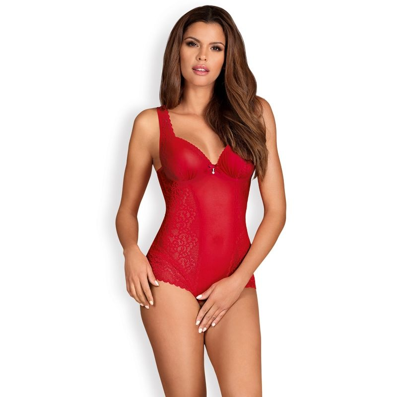 OBSESSIVE ROUGEBELLE TEDDY CON ABERTURA S M