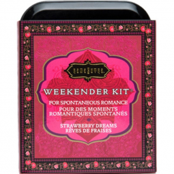 KAMASUTRA WEEKENDER TIN KIT STRAWBERRY DREAMS FRESA