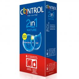 CONTROL DUO NATURA 2 1 PRESERVATIVO GEL 6 UDS