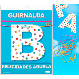 GUIRNALDA FELICIDADES ABUELA Cartulina 220gr