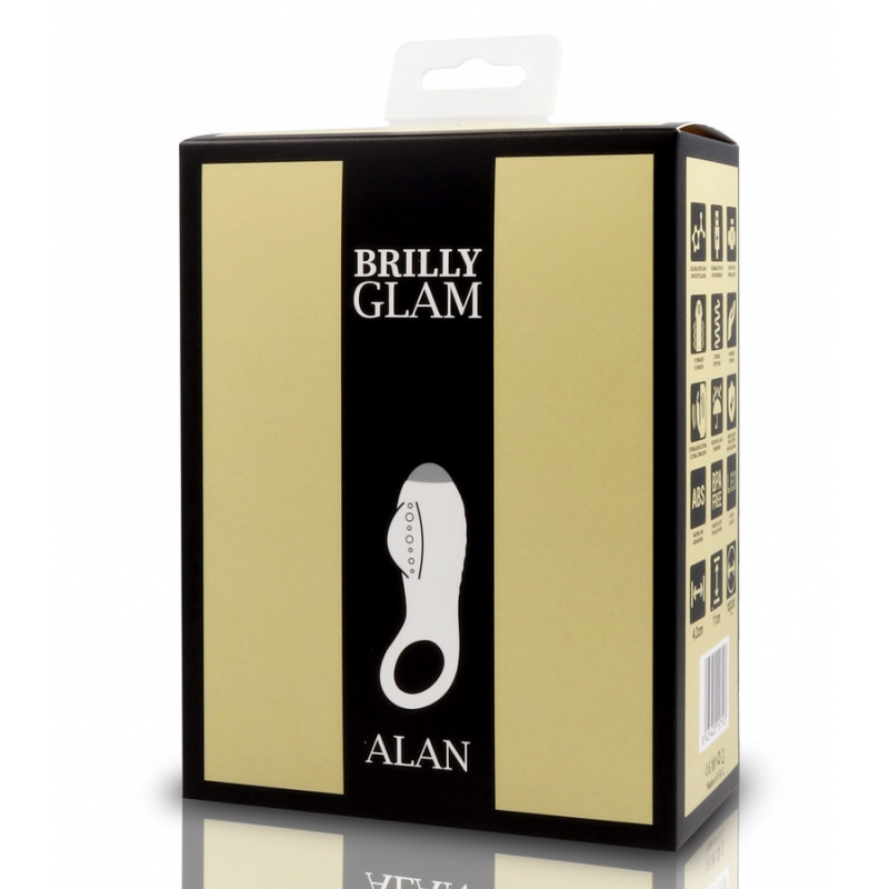 BRILLY GLAM ALAN ANILLO ESTIMULADOR LUXE NEGRO