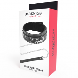 DARKNESS COLLAR LEATHER CON CORREA ALTA CALIDAD