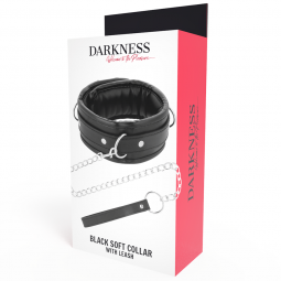 DARKNESS COLLAR CON CADENA SOFT LEATHER